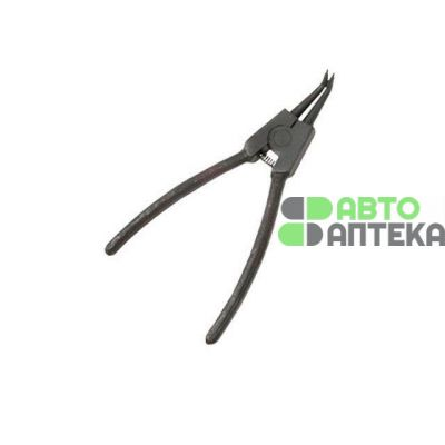 Tongs for installing and removing the stopper rings 150 mm, bent at unclamping INTERTOOL HT-7008