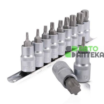 "Set on the bar TORX 1/2 ""T20-T70, 9 units. INTERTOOL HT-1849"