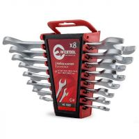 A set of open-end spanners 8 pcs., 6-22 mm Cr.-V. INTERTOOL HT-1002